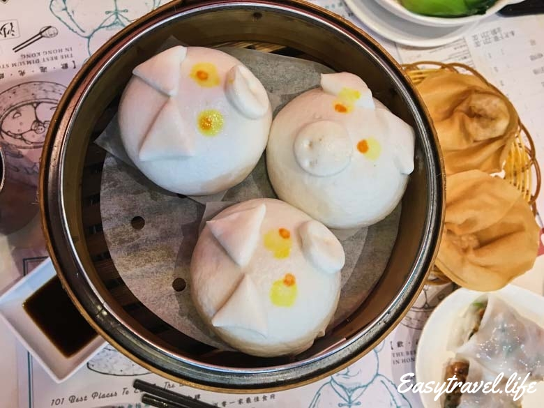 piggy custard buns