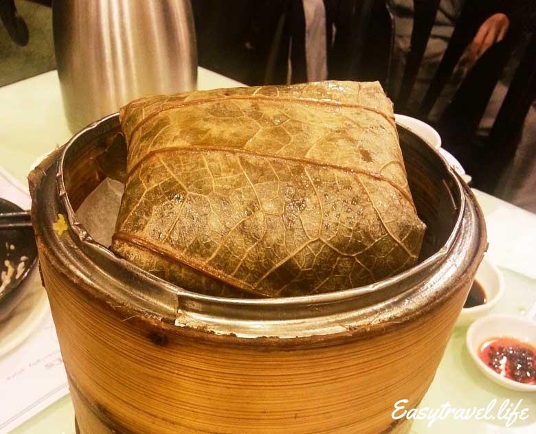 Steamed Rice in Lotus Leaf Wrap
