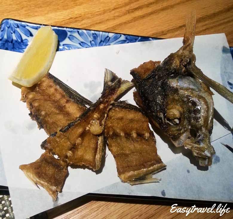 fried head fish